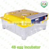 High Quality quail egg incubator/48 eggs automatic chicken egg incubator hatching machine