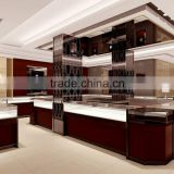 Customized luxury display cabinet and showcase for jewelry store shop mounted retail kiosk counter