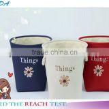 YIWU RODA Cotton embroidery bin canvas toys receive basket sundry receive storage basket bathroom laundry basket