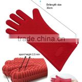 36CM heat resistant five finger silicone grill glove                                                                         Quality Choice