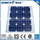 Small size high quality solar panel 30W with (CEC)& CE certificate