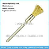 05B05 HP Shank Crimped Brass Miniature Pen Shaped 5mm Rough Dental Laboratory Rotary Polishing Brush Grinder Polish Brush