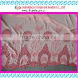Korean Style 100% Cotton Water soluble Embroidery Flower Red Color Fabric Embroidery for women clothes white mesh ground Textile