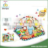 2016 popular baby play mat carpet with cartoon musical piano