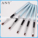 ANY Cheap Nail Art Beauty Care Artist Design Metal Handle Flat UV Gel Nail Brushes Nail Art