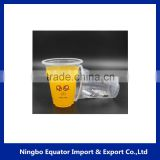 transparent airline tube cup 7oz eco-friendly disposable plastic wedding cup for drinking
