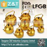 electrochemical yellow middle east aluminum tea kettle water kettle