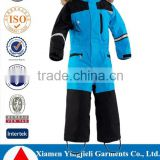 2016 Factory Price New Kids One Piece Snow Suits Fur Hooded For Winters