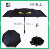 Advertising fashion boy useing new design umbrella