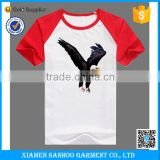 Made In China OEM Raglan Short Sleeve Baseball T-Shirt Wholesale With Custom Logo
