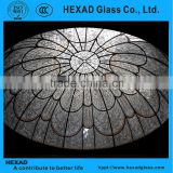 HEXAD GLASS& HEXAD INDUSTRIES//Tiffany Style roof ceiling dome with customized patterns