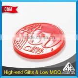 Best selling metal plastic made cart coin custom trolley token