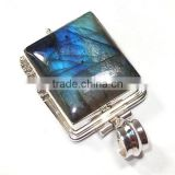 Blue fire labradorite pendant gemstone antique sterling silver 925 jewelry Ebay jewellery