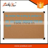 zhejiang Wholesale aluminum framed cork bulletin board with plastic/zinc back/Double Sided 20*30