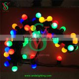 High quality IP 65 waterproof RGB chain led string ball light for party and wedding decoration