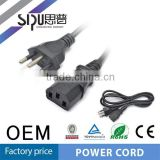 SIPU good quality Brazil power cable for rice cooker best price electrical power cable wholesale 220v computer power cord