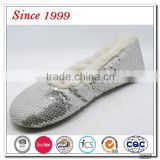 fashion shining sequined indoor ballet slipper for girls