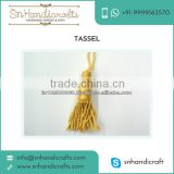 100% Polyester Based Metallic Gold Tassel for Jewelry Use