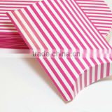 Pink and white striped Pillow Boxes PILLOW GIFT BOXES PARTY FAVORS SHOWERS GIFTCARD HOLDER