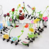 cute fancy baby hairbands plastic butterfly hair claw clip
