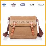 Small Multifunction Vintage Canvas Multiple Pocket Adjustable Fanny Pack Travel Waist Bag
