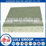 4'*8' laminated green moisture resistant chipboard for cabinet doors made by China LULIGRUOP since 1985