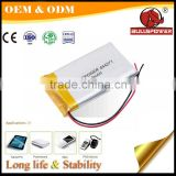 safe 3.7v 3000mah ultra thin tiger lipo battery