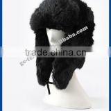 Russian hat fake rabbit fur Lei Feng cap warm winter fur hat unisex outdoor cotton cap thickened protect ear