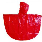 R-1020K-1006 RED AND YELLOW SHINY PVC VINYL GIRLS RAINCOATS