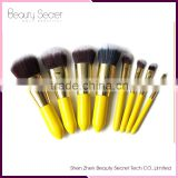 2016 New Rose Gold Toothbrush Makeup Brush / Oval Cream Power 8 Piece Professional Makeup Brush Set
