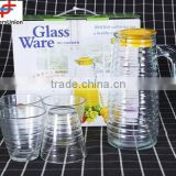 No.1 yiwu & ningbo exporting commission agent wanted 1L drinking water/juice jug set with 4 glass cups