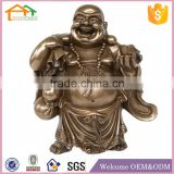 Factory Custom made best home decoration gift resin polyresin laughing buddha statue for sale