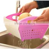 kitchen plastic folding plastic fruit vegetable basket dropping water basket vegetables drop