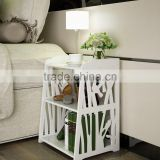 Small Plastic-Wood White Bed End Table Nightstand Bathroom Cabinet Kids Furniture Table Bookcase