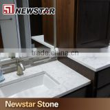 Newstar Cararra White Artificial Quartz Good Quality Quartz Vanity Tops China Stone Suppliers
