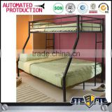 High quality steel cot bed kd structure student bed style 2 layer metal bunk bed