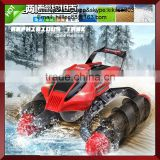 Wholesale toy rc car amphibious remote control tank. amphibious rc motor toys for boys gift