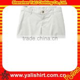 New design fashion comfortable cheap white cotton twill fitness blank mma shorts for women