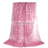 Cotton Polyester Blend Scarves & Wraps Rectangle Silver Fuchsia Feather Custom Made Scarf
