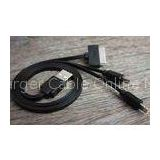 High Speed 3-in-1 IPhone USB Charger Cable Black with Apple 8 Pin / 30 Pin