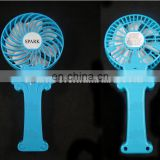 Manufacturer cheapest led handheld usb portable rechargeable mini fan cooler for camping