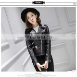 Winter Genuine Leather Jacket Bolero Imitation Leather Jacket bomerJacket Blazer with decoration badages decoration pins