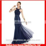 HC4243 The Whole Sale A-line Sleeveless Applique Jewelry Neckline Royal Blue Bottom Tull Fish Cut Evening Dresses