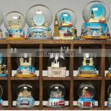 different style polyresin snow globe for home decoration