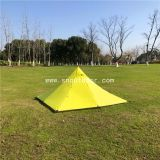 Pyramid Bushcraft Tent Yellow Double Layer Rodless Outdoor Tents, 2 Man Tents