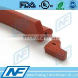 red color silicone sponge fire resistant door seal