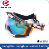 High quality multicolor snowboard goggles polarized contact lens snow goggles black frame skiing eyewear