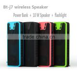 Bluetooth speaker 2016 multifuction mini speaker,4000mAh power bank speaker with flashlight