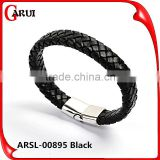 Customized logo clasps for leather bracelets bio magnetic bracelet genuine mens handmade braided leather bracelet                                                                         Quality Choice                                                     Mo