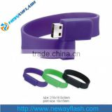 Wholesale 2gb 4gb 8gb Wristband Bracelets USB Flash Drive With 2 Sides Full Color Printing